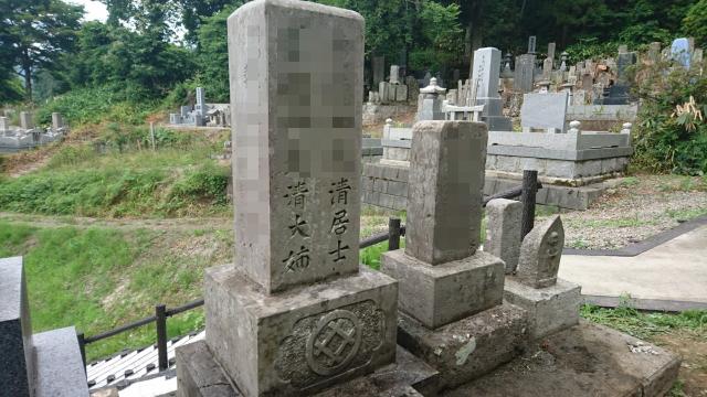a 02 02 - 【郡山市 A様家】お墓のあく洗い・クリーニング